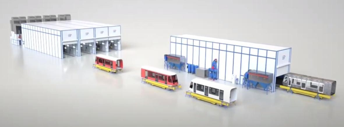 линия для окраски трамваем SPK GROUP